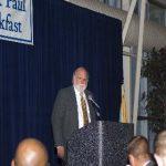 2012 Breakfast Chairman David McKnight greets guests